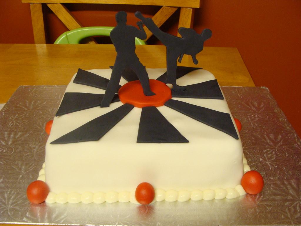 Superb Blakes Birthday Cake 028 Karate Kids Cake Rebecca Hannaford Funny Birthday Cards Online Alyptdamsfinfo