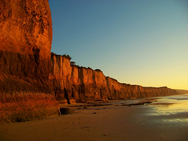 Point Addis Marine National Park,  dawn at Anglesea cliffs on low tide