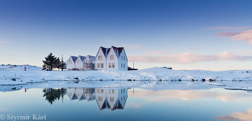 winter sunset mars snow reflection water landscape iceland ísland hraun snjór vetur vatn straumur hfk 2011 sólarlag speglun landslag sólsetur hafnafjörður kyrrð styrmirkári slétt