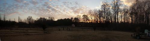 sunset sky buildings farm north carolina