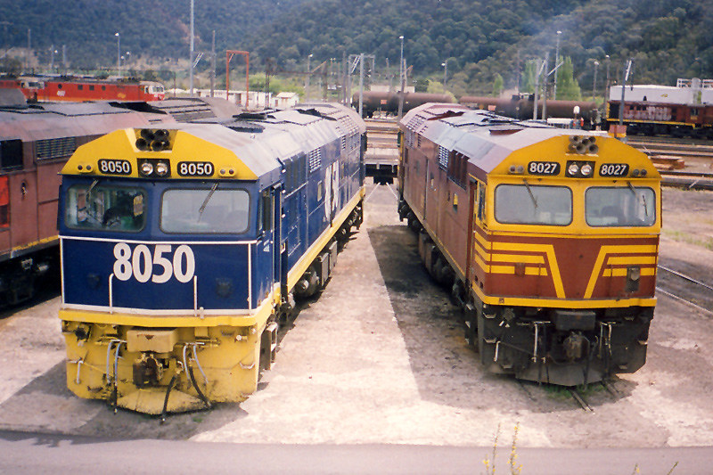 8050 & 8027 at the Lithgow turntable by Corey Gibson