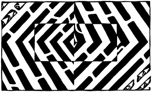 an-optical-illusion-maze-of-floating-square-eye-hurting-psychedelic-yonatan-frimer-mazes-hdtv | by yfrimer