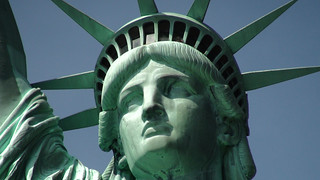 Statue of Liberty and Close-up of Head | by the bridge