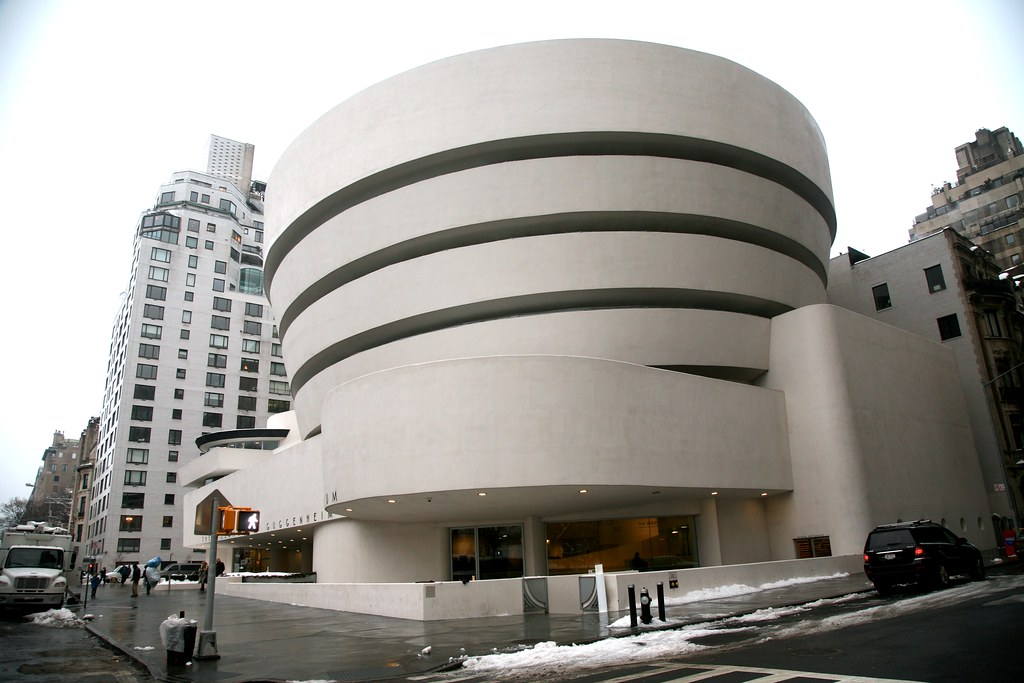 "New York City, Manhattan, Upper East Side : "" Solomon R. Guggenheim Museum """