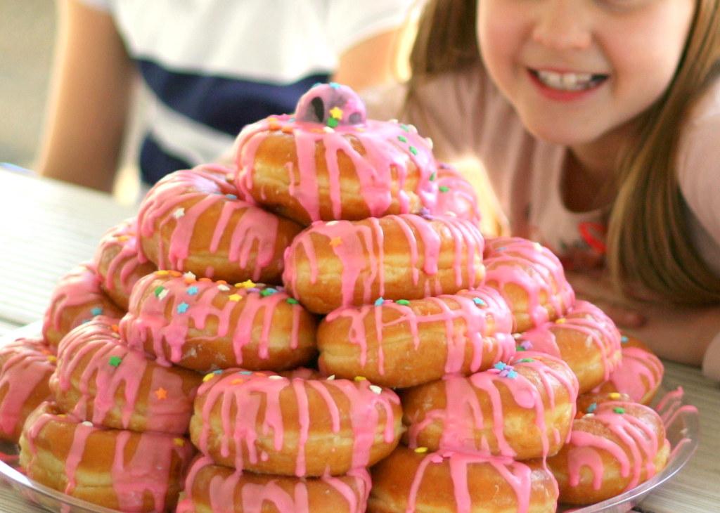 Donut Cake Birthday Celebration With Classmates At