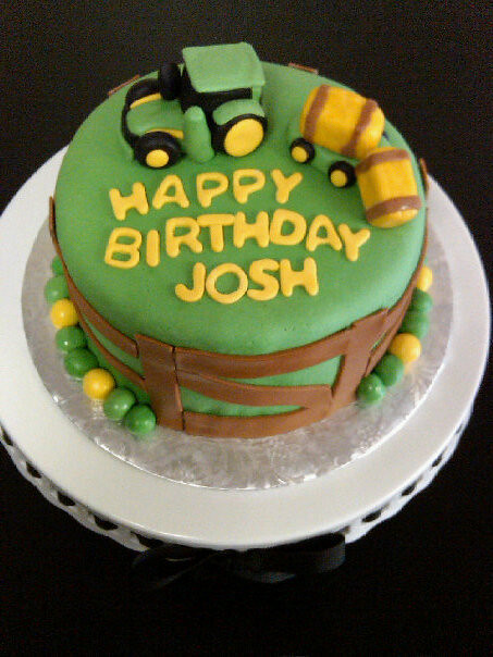 Marvelous John Deere Tractor Cake Green And Yellow Tractor Cake With Flickr Funny Birthday Cards Online Amentibdeldamsfinfo