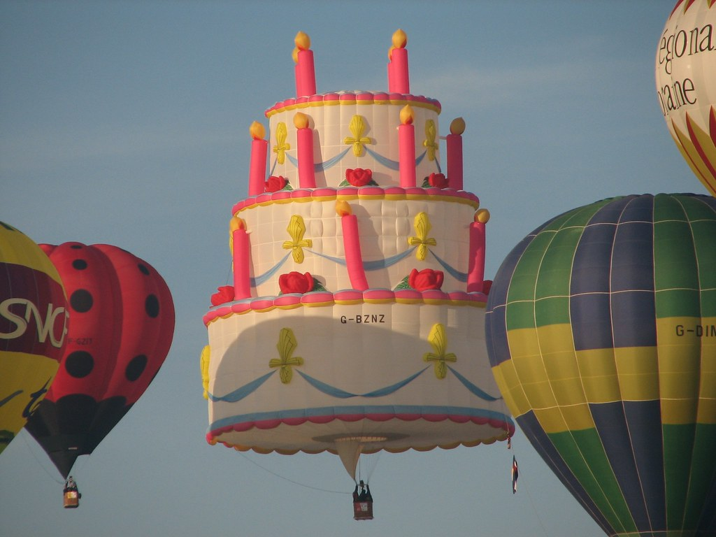 Fabulous Celebration Birthday Cake Hot Air Balloon Lorraine France Flickr Funny Birthday Cards Online Necthendildamsfinfo