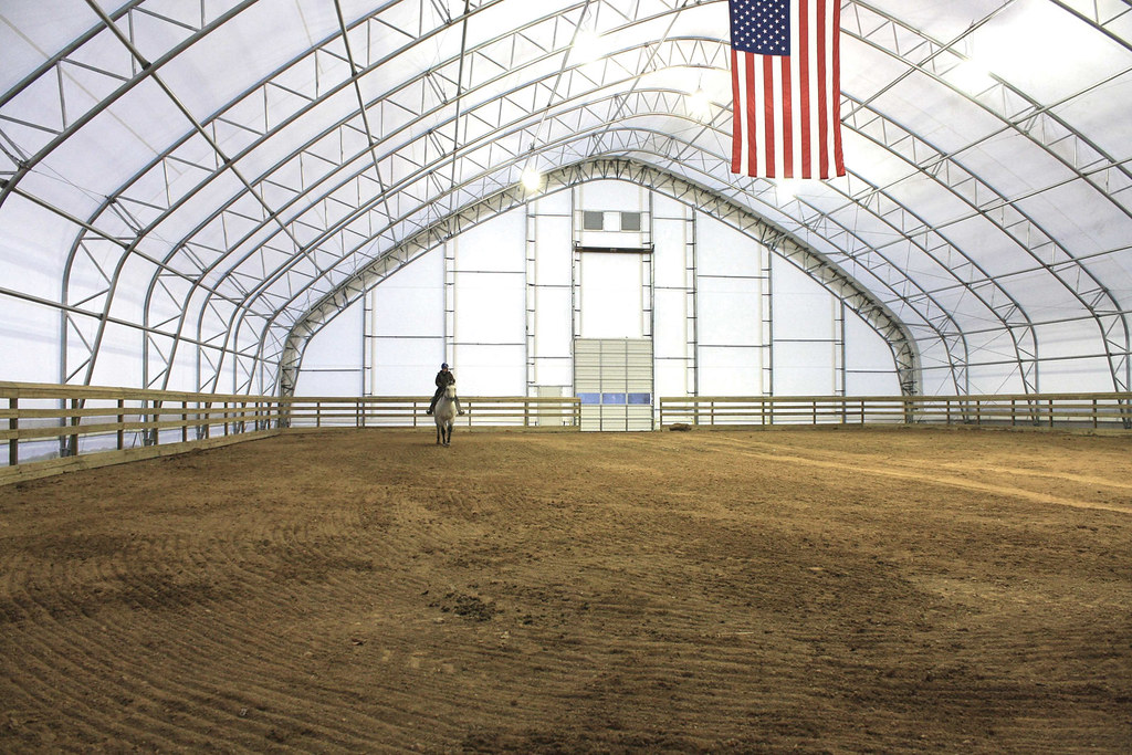 Indoor Riding Arena by ClearSpan | 100'W gothic style riding