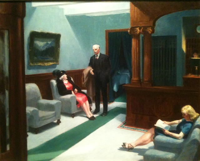 Hotel Lobby by Edward Hopper at the Indianapolis Museum of Art
