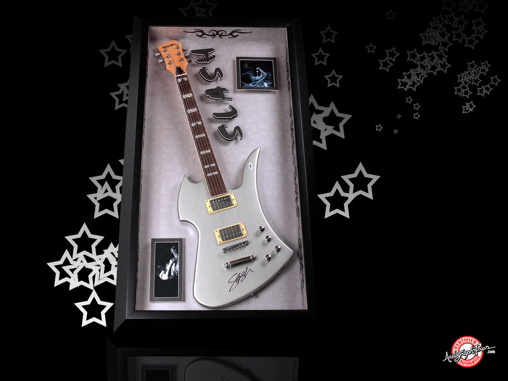 Guns N Roses Slash Autographed Signed Guitar Free Wallpa Flickr