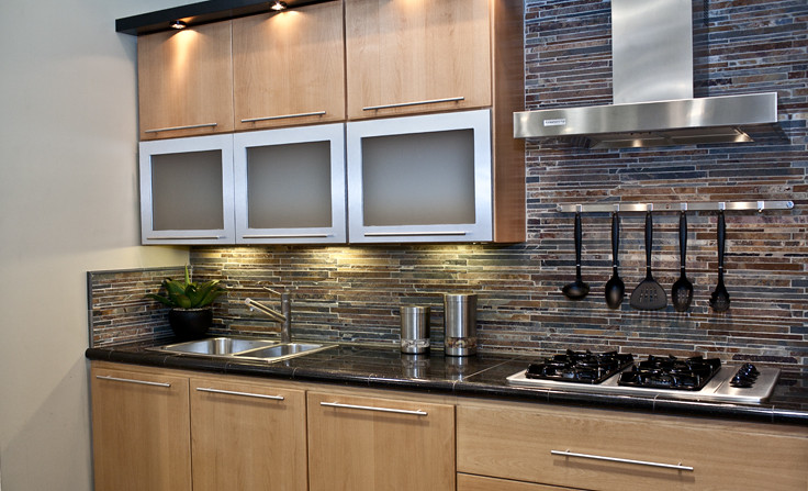 Slate Mosaic Kitchen Backsplash | All tile products are from ...