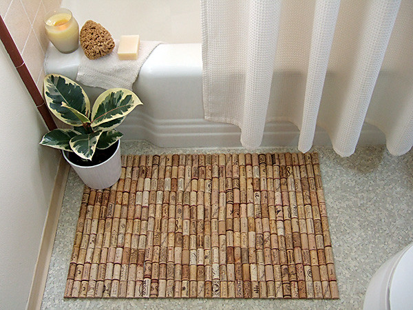 Cork bathmat | made with 179 wine corks | Amelia Sommer | Flickr