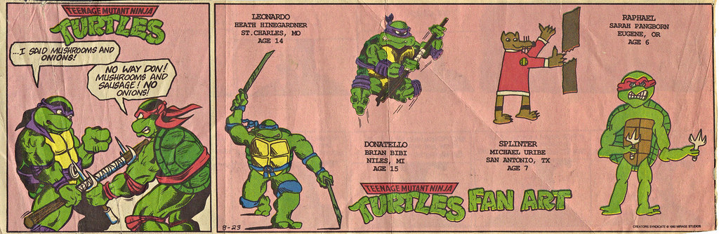 Teenage Mutant Ninja Turtles { newspaper strip } NO ONIONS! ..art by BERGER :: 08231992 by tOkKa