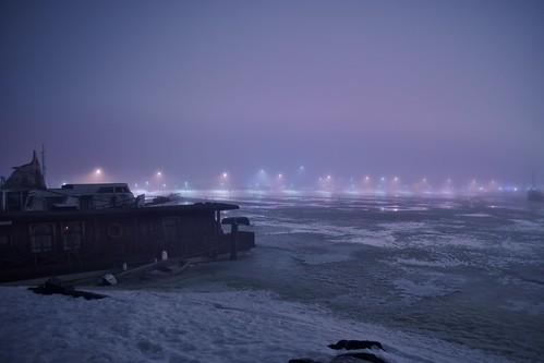 winter mist snow ice colors weather fog night finland dark landscape lights helsinki ship fuji outdoor m42 fujinon herttoniemi herttoniemenranta ebcfujinon fujinon24mmf28