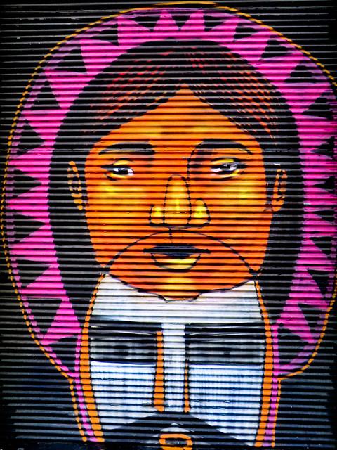 Graffiti in Ecuador, Valparaíso, Chile