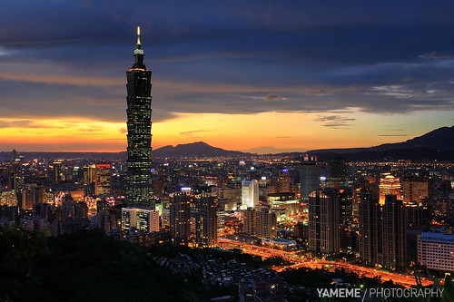 longexposure sunset night canon nightshot taiwan 5d taipei taipei101 台灣 台北 夜景 台北市 信義區 四獸山 黑卡 flickraward 長曝 flickraward5