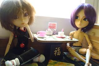 Mômo y Chô desayunando | by Lunalila1