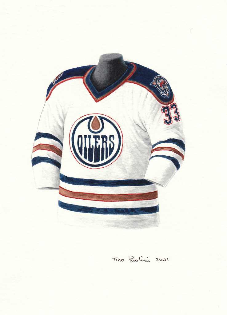 Edmonton Oilers 1996 97 Jersey Artwork This Is A Highly