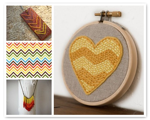 Sunshine Chevrons on Etsy | by All Things Bright