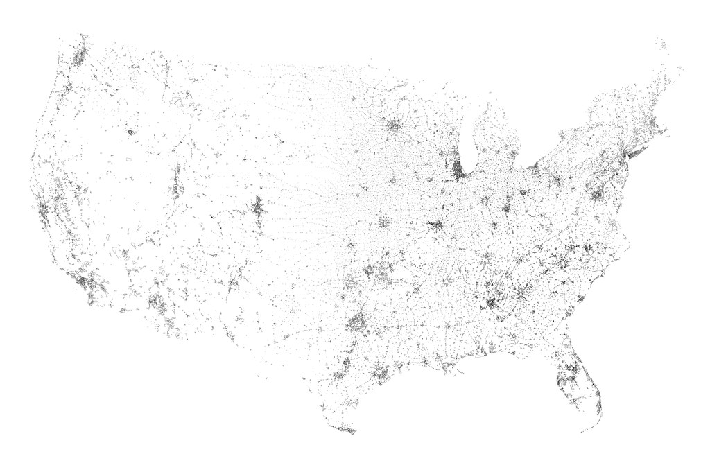 'Places' of the contiguous United States, Census 2010