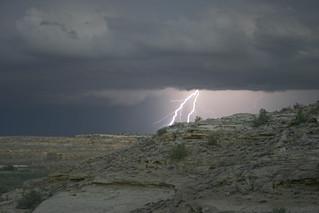Lightning Strikes Near Peñasco Blanco