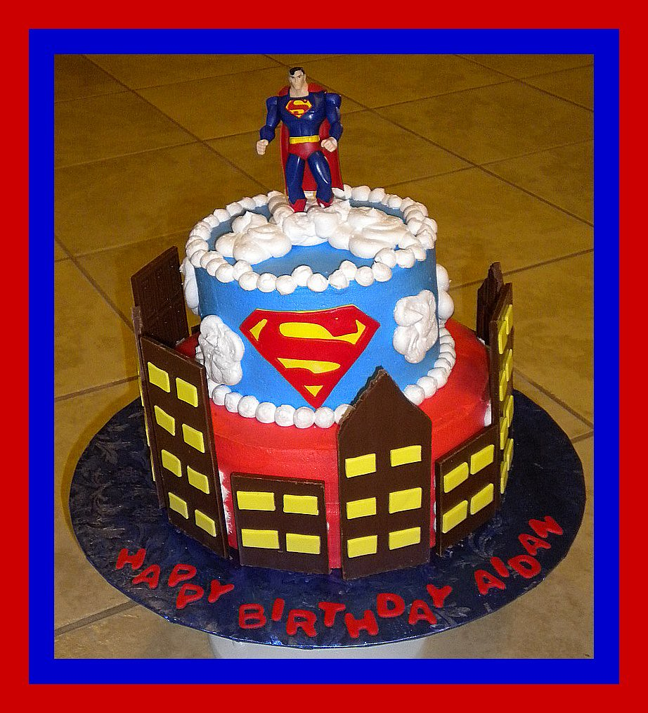 Cool Superman Birthday Cake Tinkabellz17 Flickr Funny Birthday Cards Online Necthendildamsfinfo