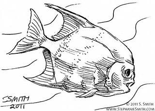 "DoodleSwap #9 ""Under The Sea"" ATC scan card 10   by artsteph6"