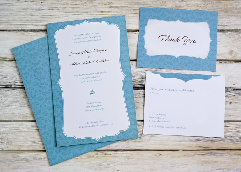 Wedding Invitations Vistaprint.Vistaprint Wedding Invitation Blue White 3 Vistaprint O