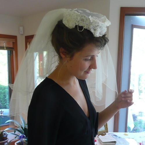Trying on Grandma's Veil