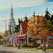 Rue Shefford a Bromont 24x30 Acrylic on Canvas by Andre Turenne by westendgallery