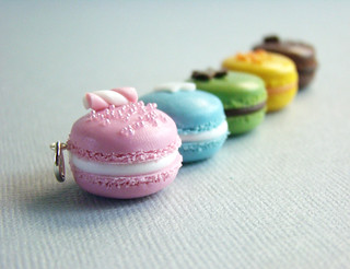 Bijoux Gourmands - Miniature Food Macarons - Pendant | by PetitPlat - Stephanie Kilgast