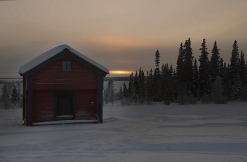 winter sunset sweden jämtland 2010 åre klocka