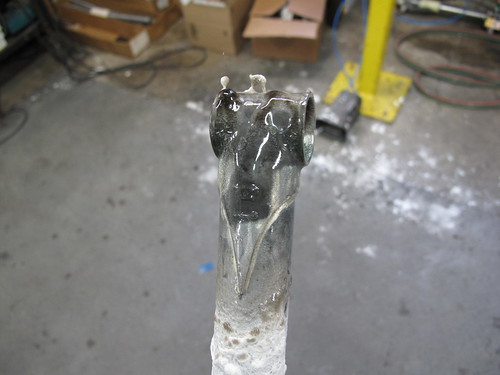 Seat post after brazing.