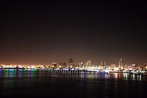 Queen Mary - View of Long Beach from Promenade Deck (Oops, No Tripod) | by Miss Shari