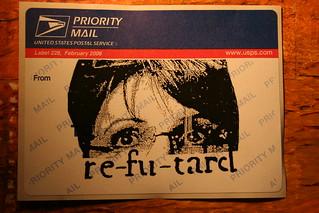 "Sarah palin ""refutard"" (re-fu-tard) 228 street sticker"