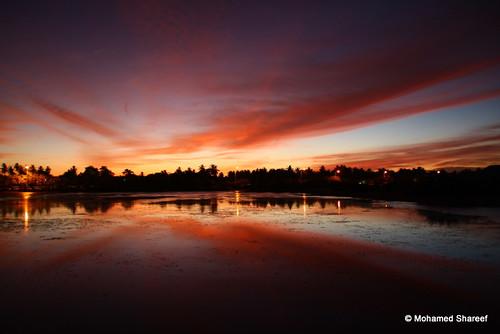 sunset cloud reflection island lagoon maldives addu shareef dhonfuthu mohamedshareef