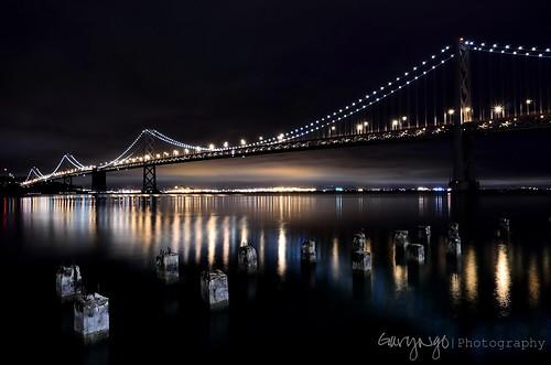 sanfrancisco california longexposure usa reflection night photography nikon explore baybridge 1224mm d7000