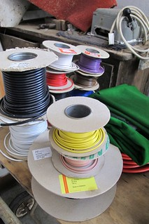 Wire spools, Fran's home, Dublin | by neate photos