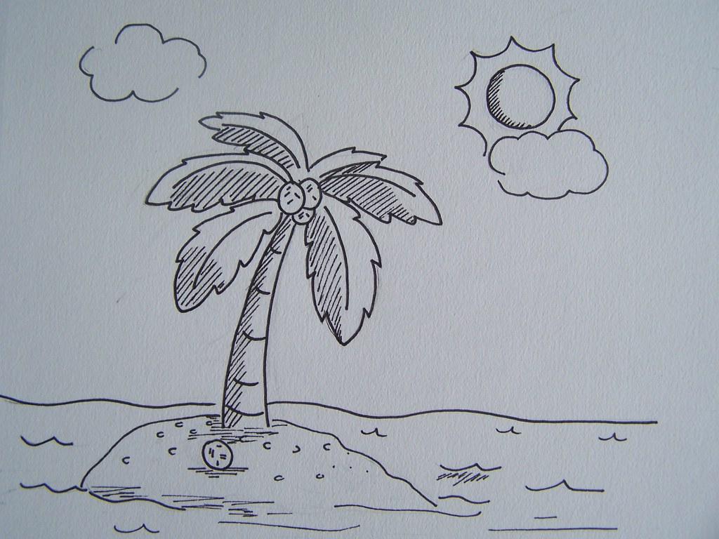 Simple landscape line drawing cheryl clark flickr