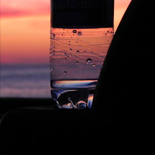 ocean sunset water colors bottle nikon pacific bokeh coolpix striations p100