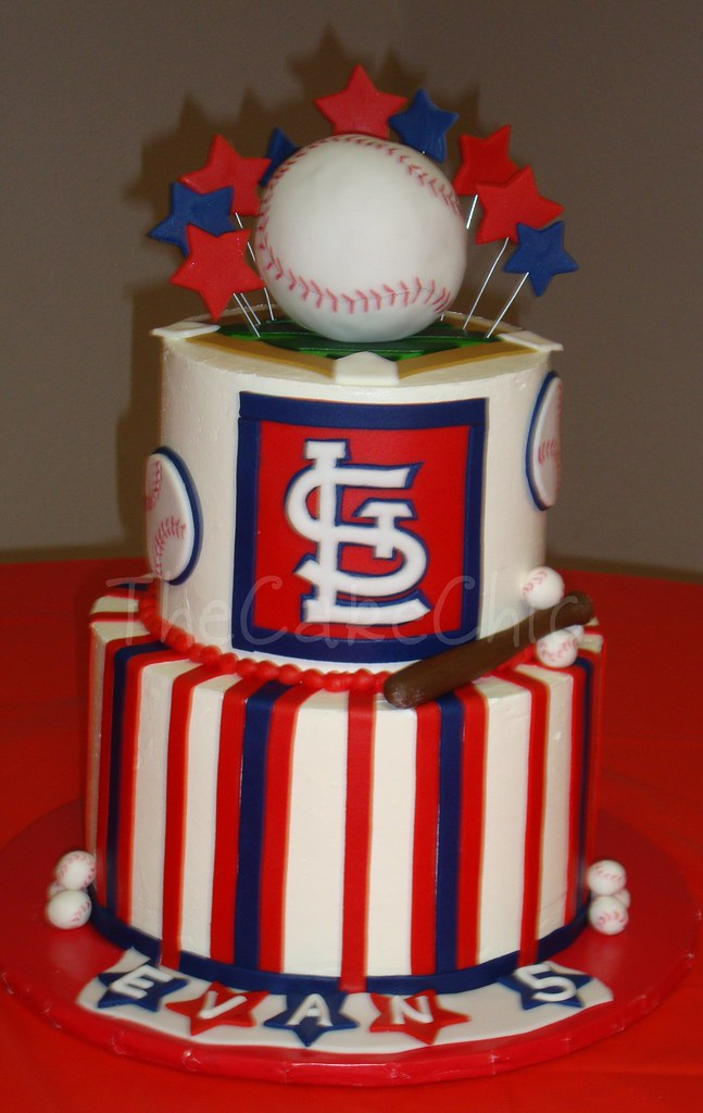 St. Louis Cardinals cake | Not the best picture, I was rushe… | Flickr