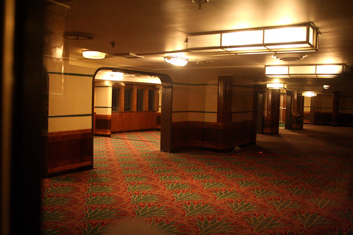 Queen Mary - Former Second-Class Promenade Deck and Part of Lounge (Now Brittania Room) | by Miss Shari