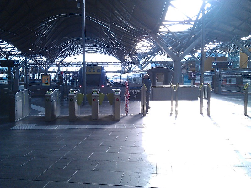 Myki V/Line barriers at Southern Cross