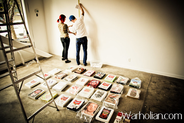 Angela Holmes and Sami Ezzaher - Warhol Reimagined: The New Factory Setup and VIP Opening Night - Project One Gallery - Warholian