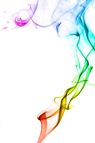 smoke spectrum on white   by Creativity103