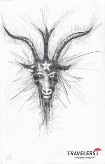 Zavier Ellis 'Black Magic 2', 2010 Pencil on paper 21.2x13.7cm