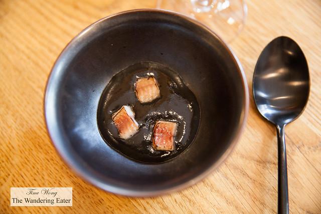 Smoked eel, black sesame