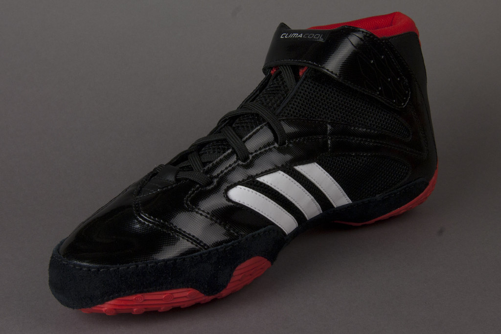 la meilleure attitude 43073 7baa1 adidas Wrestling Shoes Black Red View 7 | adidas Black Red w ...
