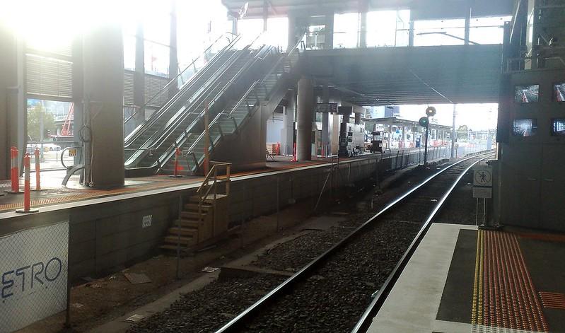 Southern Cross Stn: Platforms 15+16 under construction