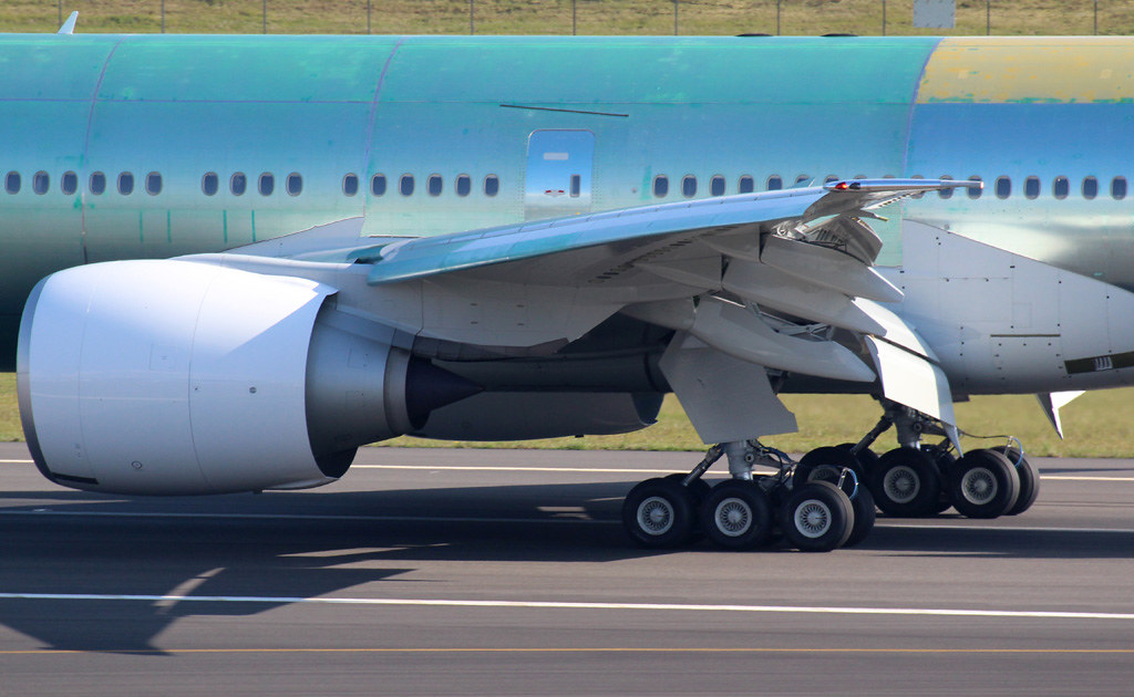 777 wing close-up